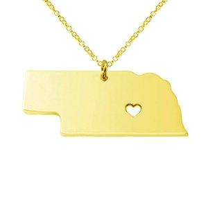 Collana American USA State Collana con pendente NE Nebraska Home is Where The Heart Is charm jewelry