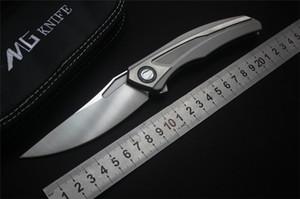 MGF nouveau Shirogorov quantum Couteau pliant VG10 Lame Titane poignée Camping Chasse Survie couteau de poche Extérieur EDC Outils
