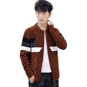 Men Sweater Cardigan Zipper Fashion 2020 New Arrival Winter Slim Male Knitted Coat Teenage Boy Korean Style Hot sale M13