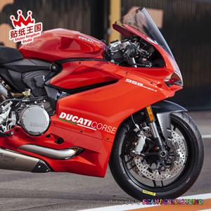 Per Ducati Corse 848 899 959 1098 1199 1299 V4 Premium Cast Carenatura Moto Motor Bike Decal Sticker Riflettente Impermeabile 21