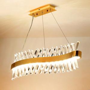 Wave Design lampada a cristallo lungo lampadario LED AC110V 220V lucentezza cristal barra di illuminazione kronleuchter dirigono