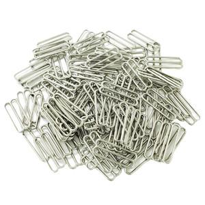 10pcs Plastic Coated Metal Bra Straps Adjustments Sliders 9 Rings Hooks