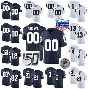 Penn State Nittany Lions Koleji Futbol Formalar Mens Pat Freiermuth Jersey Miles Sanders John Reid Paul Posluszny Jaquan Brüker Özel