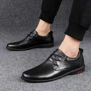 Scarpe da uomo Casual Genuine Shoes Business Dress Shoes Flat Shoes Moda Sneakers Lace Up Traspirante Scarpe da ginnastica di alta qualità Uomini 3