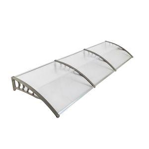 300x 100 cm Saçak Gölgelik Güneş Yağmur Barınak Pencere Tente Ön Kapı Gölgelik Açık Kapı Pencere Plastik Braketi ABS Kapak Yard Bahçe