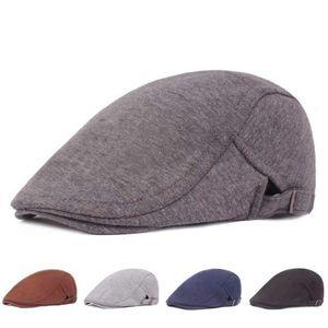 Mode rétro béret chapeau hommes et femmes littéraire parasol casual Chapeau