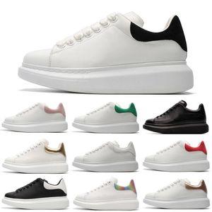 New Fashion Designer Shoe Luxe Femmes Hommes Chaussures lacées en cuir extra-grande plateforme unique Sneakers Blanc Noir Chaussures Casual Taille 36-46