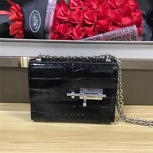 designer de luxo crossbody sacos de ombro único saco cadeia genuína de couro 2020 New chegada trava bolsa de couro de crocodilo