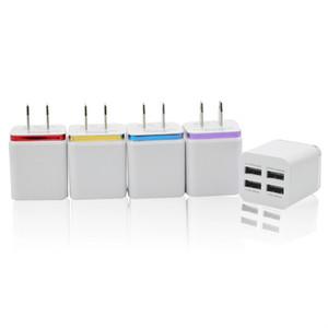 Nuevo cargador de chapado 4USB Cargador de teléfono móvil 2.1A 4 USB Metal Side Travel Charger para la tableta móvil MP3