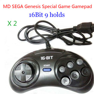 Consumer Electronics 2pcs MD Gamepads 16bit Genesis Game controller 9 Holes Sega Joypad high quality good price Game Accessories