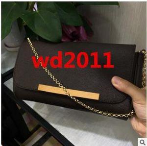 Designer taschen Hight Qualität New Fashion Berühmte Echte Frauen Messenger Handtasche 40718 Echtes Leder Umhängetasche Mit Kette FAVORIT Geldbörse