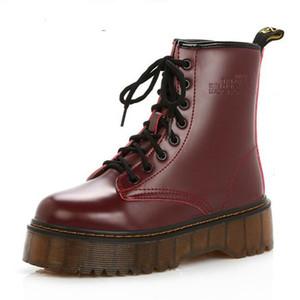 고품질 플랫폼 가을, 겨울 목화 따뜻한 오토바이 부츠 부츠 여성 펑크 발목 부츠 크기 35-40 추가