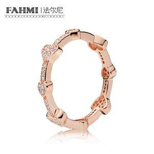 WPENNYI 100% 925 d'argento 187729CZ ROSE seducente Cuori anello semplice di modo monili romantici di originale del regalo delle donne fabbrica