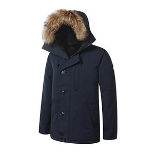 Kanada Chateaus Markemens Veste Homme Outdoor-Winter-Jacken-Oberbekleidung Big Pelz Kapuze Fourrure Manteau Daunenjacke Mantel Hiver Parka Doudoune