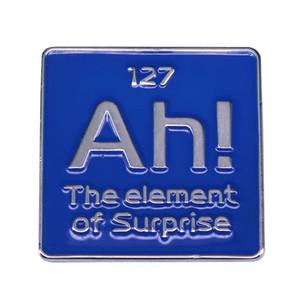 Ah! l'élément de la science surprise broche périodique élément esthétique design scientifiques nerd décor