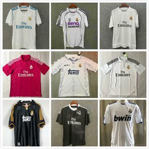 # 7 Raul # 9 Ronaldo # 23 Beckham Retro 06 07 Real Madrid Soccer Jersey Vintage 2006 2007 Chemise de football Cannavaro Marcelo Higuain Sleeve courte