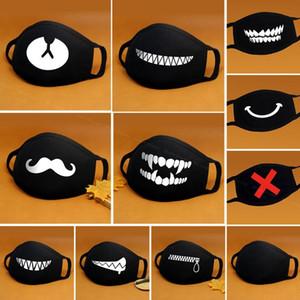 Cartoon Cotton Maschera bocca nera anti-polvere anti inquinamento respiratore Maschera maschere moda sveglio dell'orso Kpop Animal Viso Bocca