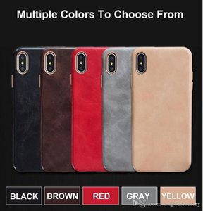 PU Real-leather Like Case Metal Plating Cover for iPhone 11 11PRO 11PRO MAX 6 6Plus 7 7Plus 8 8Plus High Quality Case for Iphone X