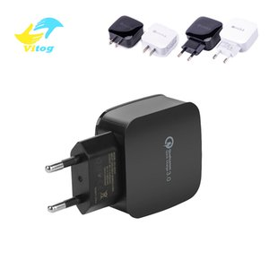 Vitog 18W Quick Charger 3.0 USB Charger for Samsung A50 A30 Huawei P20 Tablet QC 3.0 Fast Wall Charger US EU Plug Adapter