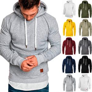 9 color S-5XL hombres de la cremallera con capucha otoño masculino de manga larga con capucha con cordón sólido Streetwear suéter con capucha con bolsillo rayado Pullover