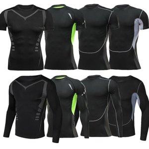 Полезный спортивный компрессионный спортивный костюм с длинными рукавами для мужчин Quick Dry Wear Running Suit Jogging Gym Fitness Workout Clothes