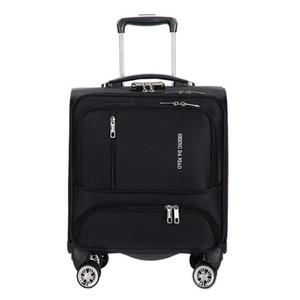 18 inç yatılı laptop çantaları Kadın bagaj seyahat taşıma çantası üzerinde tekerlekli Seyahat bavul