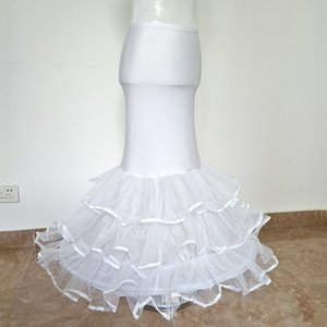 Incrível Cheap 2020 Mermaid Wedding Dress Petticoat Mermaid vestido de baile deslizamento até o chão Hoop Skirt saia crinolina underskirt