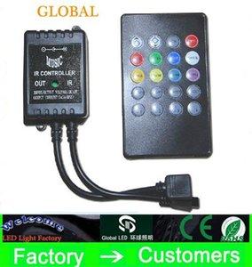 Hot DC12V LED RGB Musique IR contrôleur 20 musique infrarouge clé contrôleur LED IR de l'unité de contrôle avancé pour RGB 3528 5050 led strip
