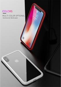 iPhone XS Max XR 6/7/8 artı X'in Adsorpsiyon temperli cam Arka Panel Kapak Cep Telefonu Kılıfları için Manyetik telefon kılıfı