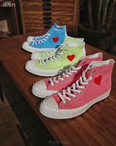 الرجال 1970 كل النجوم 70 HI cdg لعب عيون كبيرة أحذية قماش الأزياء نساء 1970s تشاك يحب أحذية القلب عارضة الاسم المشترك أحذية تزلج 35-44