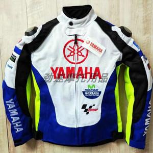 새로운 야마하 오토바이 저지 남성의 경주 정장 기관차 소송 균열을 방지 옷은 통기성 파란색과 흰색 방풍 재킷 메쉬