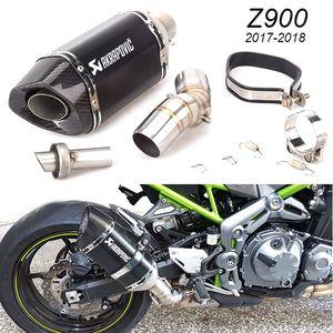 Slip on für Kawasaki Z900 2017-2018 Auspuff Motorrad Mittelrohr Muffler Flucht Z900 Fit für Kawasaki-Motorrad-Z900