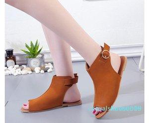 Мода большой размер рыбы рот низкий каблук сандалии женщин 2019 летом дизайнер европейских и американских пряжки сандалии c09 L16