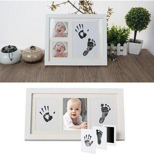 6 cores Non-Toxic do bebê Handprint pegada Imprint Kit Baby Care Fundição Pai-filho mão-pé selo infantil lembranças Brinquedos YYA16