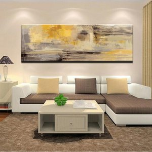 Плакаты и Печать стены искусства холст картины Современные Аннотация Золотой Желтый Плакаты Wall Art картинки для гостиной Home Decor