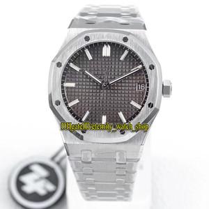 ZF Top versión real de la serie de Gan 15500ST.OO.1220ST.02 Dial relojes de diseño Cal.4302 mecánico automático del reloj para hombre de acero 904L caja de la correa