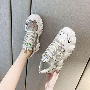 20200525 весной новые двухцветные толстая подошва ботинок зашнуровать, сетку и все виды соответствия чистого красных студенческих женской обуви