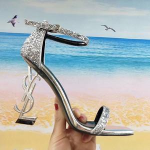 Desinger Luxury Heel Designer Wedding Shoes Women Sexy Sandalias de tacón alto sandalias de gladiador de diseñador sandalias de tacón alto zapatos zapatos 10cm