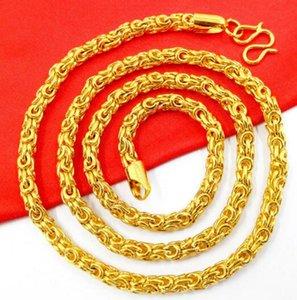 Nova vietnamita dos homens areia banhado a ouro 24k ouro colar de osso de cobra