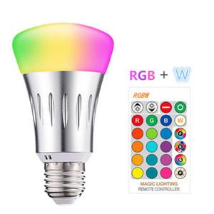 -Vente à chaud changement de couleur LED 5W lampe ampoule RGB A60 aluminium RGB coloré plastique ampoule atmosphère de commande à distance