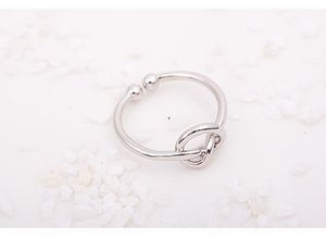 Infinity Knot Ring Simple Knuckle Heart Knot Open Rings For Women Girl Wedding Engagement Jewelry Gift Wholesale