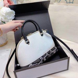 Мода женщин Роскошная сумка сумки серпантин шаблон оригинального оборудования Desinger Crossbody Сумки Письмо Shell Сумки