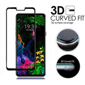 ل Coolpad Legacy كامل الغطاء الزجاج المقسى حامي الشاشة LG G8 ThinQ V40 V50 مع حزمة البيع بالتجزئة