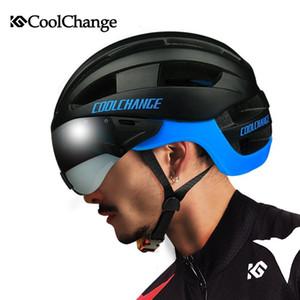 2017 Coolchange Capacete de Ciclismo Eps à prova de vento Lentes Integralmente -Molded Bicycle Helmet Homens 16 Vents Mtb bicicleta Capacetes Casco Ciclismo