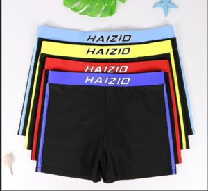 2020 mens swimming trunks Boxer shorts Plus size quick dry beach hot spring swimming fashion trunks XL-4XL