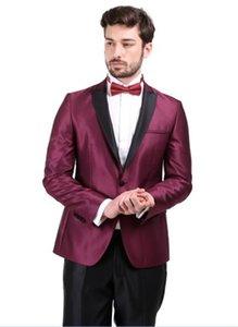 Personalizza (Giacche + Pantaloni) Business casual da uomo Slim Suit Fashion Tuxedo Wedding formale Dress Blazer Stage Performances Suit
