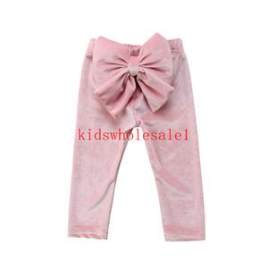 Emmababy горячая прекрасный малыш дети девочки Принцесса бантом бархат клеш брюки леггинсы брюки милый