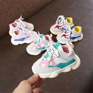 2019 autunno del ragazzo della neonata infantile del bambino Casual Running Shoes inferiore molle comodo cuciture colore bambini Sneaker