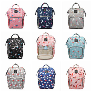Unicorn horse Flamingo print Diaper backpack mommy bag Maternity large nappy bag Bolsa Maternida baby bags Travel Backpacks Baby Care wetbag