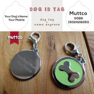 30mm freeshipping Bone Imprimir etiquetas de perro, envío libre Laser letras Dog Tags Nombre cuello de la correa de ajuste del gato del perro